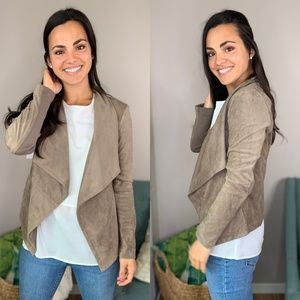 Saks 5th Avenue Suede Open Blazer